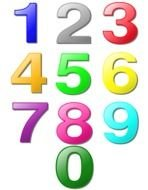 Colorful different numbers clipart