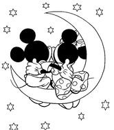 Mickey And Minnie Mouse Coloring Pages drawing