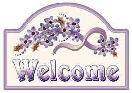 Welcome Sign Clip Art Free N9