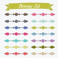 arrows set drawing
