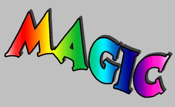 colorful word Magic