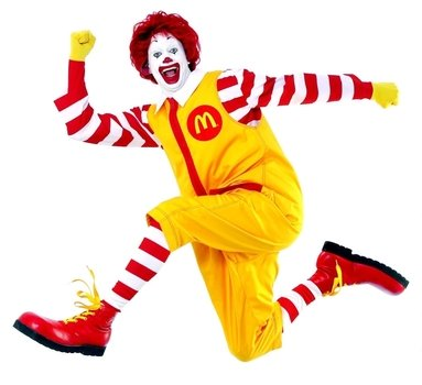 İllustration of Ronald McDonald