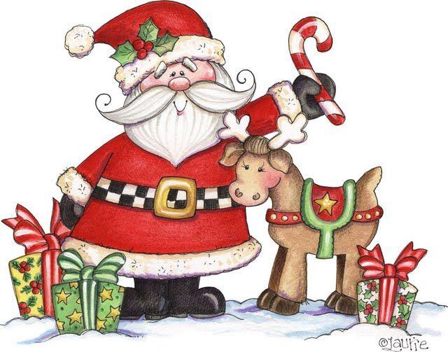 Santa And His Reindeer Clip Art N2 free image