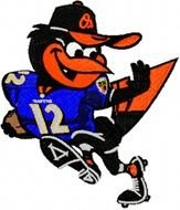 Baltimore Orioles And Ravens Logo drawing