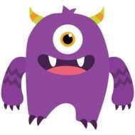 purple funny monster