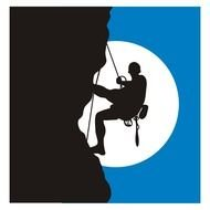 Rock Climbing as a graphic illustration