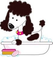 Dog Grooming Clip Art drawing