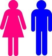Male And Female Stick Figures Clip Art N3