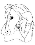 Horse Coloring Pages drawing