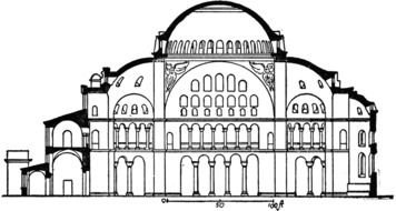 Hagia Sophia Floor Plan drawing