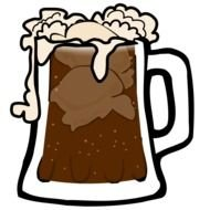 drawing of a beer mug with foam