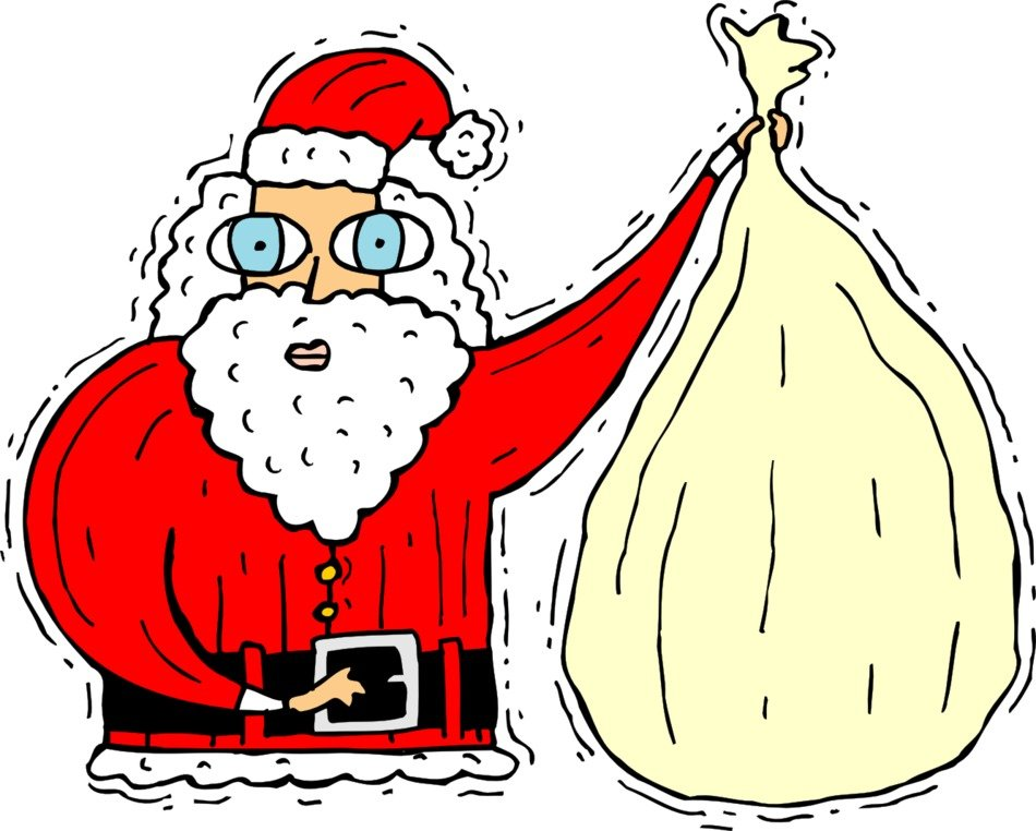 funny Santa with a bag
