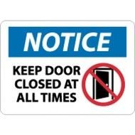 Keep Door Closed Sign N7