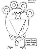 Christian Easter Coloring Pages drawing