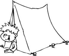 boy in the tent