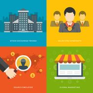 Business flat design vector illustrations