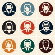 Business people icons Avatar