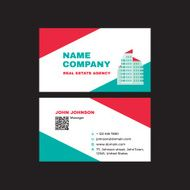 Real Estate - Business Visit Card Creative design template