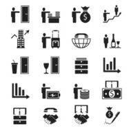 People arranging Business Icon Set