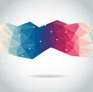Abstract polygonal background triangles