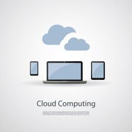 Cloud Computing and Networks Concept with Mobile Devices