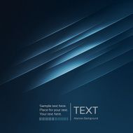 Abstract background dark blue text