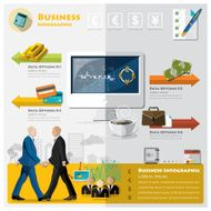 Business And Financial Infographic labtop