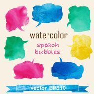 Watercolor Speech And Thought Bubbles