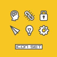 Icons set ideas Vector illustration