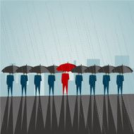 Business red umbrella