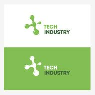 Abstract Technology vector logo design template