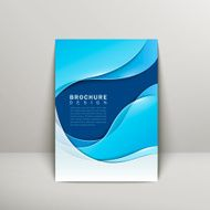 smooth curve lines background brochure template