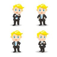 cartoon illustration Success Business man