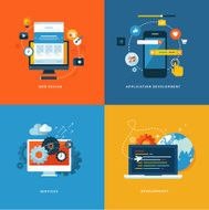 flat design concept icons for web and mobile services apps