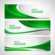 banners green vector