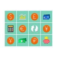 World's currency icons