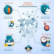 Business Infographics Set ideas symbols