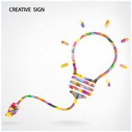 Multicolored Creative light bulb Idea concept background
