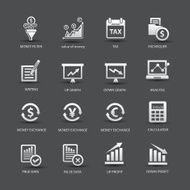 Finance analysis icons Colorful version vector