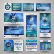 Icons Vector Corporate identity templates