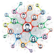 Social Network people faces