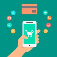 Illustration concepts of online payment methods