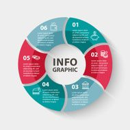 Vector circle infographics Template for diagram graph presentation and chart