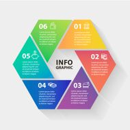 Multicolored Vector circle infographics Template for diagram graph presentation and chart