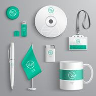 Corporate Identity Design white green