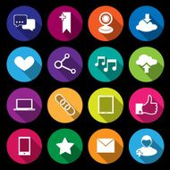 Social Media Icons multicolored