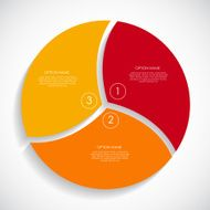 Red yellow orange Infographic Templates for Business Vector Illustration