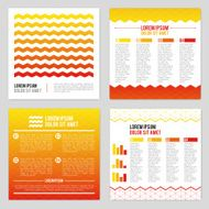 Set Of Flyer Layout Design Templates