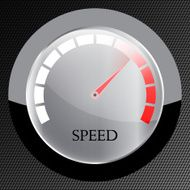speedometer web flat icon