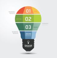 Modern Design light Minimal style infographic template